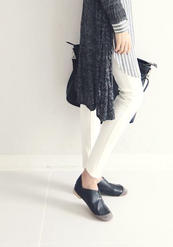 图片放大 -混纺中线设计打底裤 韩国性感时尚女装网店 WINGSMALL中